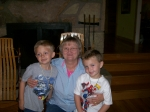 Grandsons,Will and Ezra with Sherry