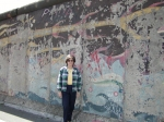Jeannell Charman at the Berlin Wall