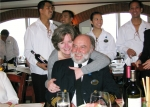 Jeannell and Mike Charman celebrate their anniversary with friends on the Norwegian Jade.