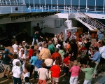 Invaders cruise on the Norwegian Sun.  Rockin' out at our deck party! Awesome.