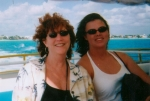 Ruth Cash-Smith and niece Meghan in Cozumel, Mexico