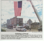 Saluting a Friend - The City of Salem honored Leonard Williams.