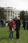 Mary Anne Robinson Pruden's son, Jared and his family at the White House Easter Egg Hunt 2009