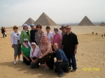 Ruth, Chris, Barb, Jeannell, friends and family at the Giza Pyramids.  Great trip!