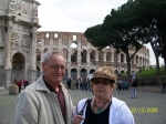 Chris and Charolett Brown in Rome.