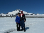 Barb Schoonover and Chris Brown - helicopter trip Juneau ice field