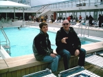 Linda Lance Mobley and husband Mike on the Invaders cruise. Linda was the band's biggest fan.